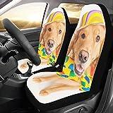 Nette Happy Dog Wear Krawatte Benutzerdefinierte Neue Universal Fit Auto Drive Autositzbezüge Schutz Für Frauen Automobil Jeep Lkw Suv Fahrzeug Full Set Zubehör Für Erwachsene Baby (set...