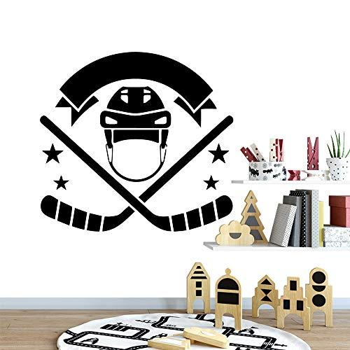 guijiumai Moderne Hockey hauptdekorationen PVC Aufkleber entfernbare wandaufkleber Kunst Dekoration DIY wohnkultur kinderzimmer kreative sti 74X79CM
