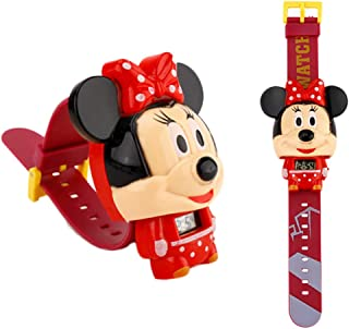 disneywatch Cartoon Electronic Wrist Watches for Children, Multi-Function, Cool Deformation Watch Mini Mouse