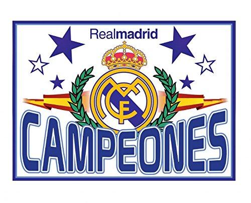 Real Madrid Bandera Campeones. 150 x 100 cm. Producto Oficial.