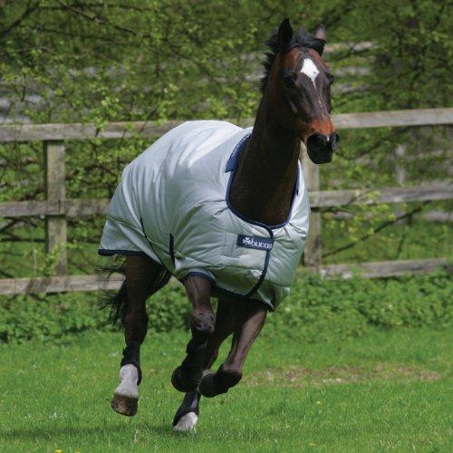 BUCAS Outdoor Pferdedecke POWER TURNOUT CLASSIC, silberfarbend, 145