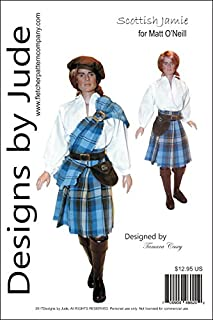 Designs by Jude Scottish Jamie, a 1700's Outlander Oufit Pattern for 17.5