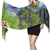 Bufanda de mantón Mujer Chales para, Lovely Pinecone Women 's Fashion Long Mantón Invierno Cálido Bufanda grande Bufanda de cachemira