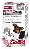 BEAPHAR - FIPROTEC COMBO au Fipronil et (S)-Méthoprène dosés à 67 mg/60,3 mg - Solution spot-on pour petits chiens (2-10 kg) – Agit contre puces, tiques et poux broyeurs - 3 pipettes de 0,67 ml