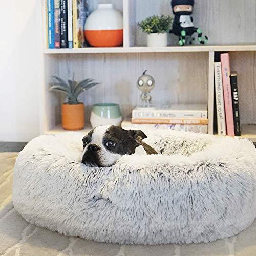 XHNXHN Cama Extragrande Lavable de Piel sintética para Perros con Funda Exterior Sofá para Gatos Cojín Reversible Saco de Dormir para Cachorros Perrera de Calentamiento automático, S
