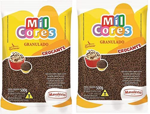 MIL CORES Granulado Crocante Sabor Chocolate 500 grs. - 2 Pack. / Sprinkles Chocolate Flavor 17.64 oz. - 2 Pack.
