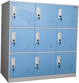 MECOLOR Petite armoire de bureau en métal, avec serrure