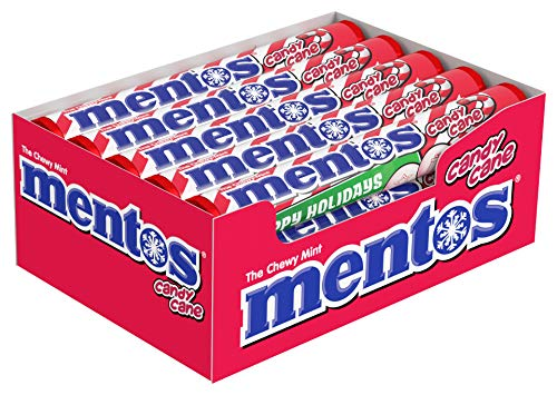 Mentos Chewy Mint Candy Roll, Candy Cane, Stocking Stuffers, Christmas Gifts, Party (Pack Of 15)
