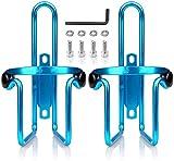 KKSJK - Portabidones para bicicleta, juego de 2 unidades, ajustable, soporte para bebidas ultraligero y robusto, de aluminio para bicicletas de montaña, cochecito, silla de ruedas