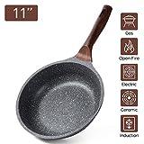 ilimiti 28CM Sartén de Piedra, 28cm sartenes antiadherentes 11INCH PFOA Free, Mango ergonómico, sartén Superior Apta para Todo Tipo de Cocina, Apto para Inducción y Lavavajillas