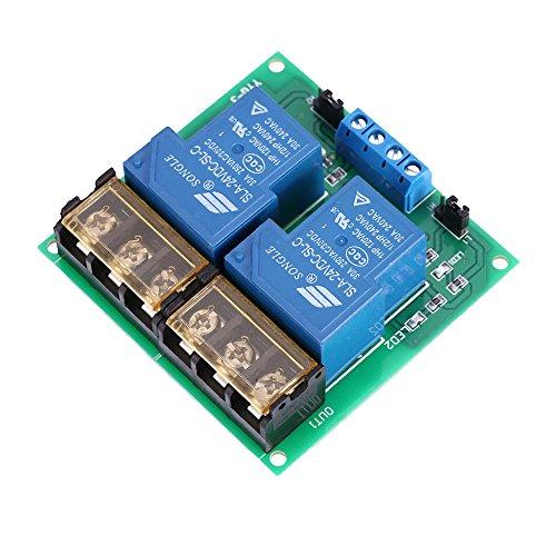 KKmoon 2 Kanal DC 24V 30A Relay Board Modul Optokoppler Isoliert High und Low Trigger Relais Modul