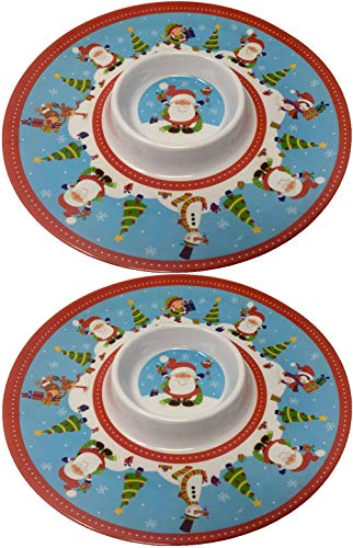 2 bandejas para aperitivos o servir platos de Navidad