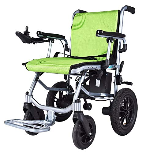 ZHHL Wheelchair, Lightweight Electric Wheelchair Open/Fold in 1 Second Lightest Most Compact Power Chair Drive Wheelchair Up To 12 Miles Range for Disabled Elderly