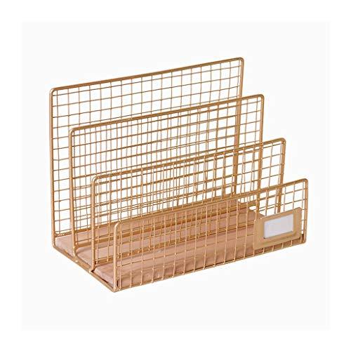 YIXIN2013SHOP Estantería libreria Metal Bookshelf Desktop Grid Partition Storage Rack Simple Student Bookshelf Oficina Estanteria
