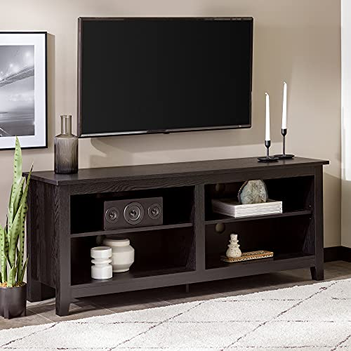 - WE Furniture 58-Inch Wood TV Console, Black