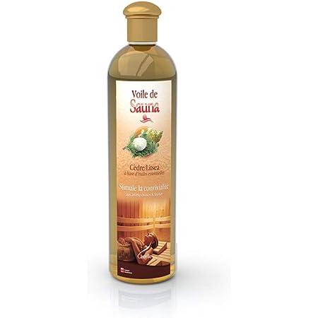 Camylle - Voile de Sauna Cèdre Litsea - Fragrances à base d'Huiles Essentielles 100% Pures et Naturelles pour Sauna - Stimule la convivialité aux arômes boisés et fruités - 250ml