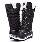 Kingshow Women's Globalwin Black1711 Waterproof Winter Boots - 11 D(M) US Women's