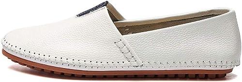 schuheDQ Herren Lederschuhe Casual Slip-on Schuhe Mokassins Handmade Driving Schuhe