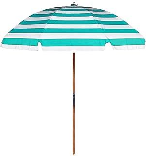 7.5 ft.Steel Commercial Grade Beach Umbrella Ash Wood Pole