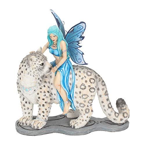 Nemesis Now - Statuetta Hima Companion, 26 cm, Colore: Blu