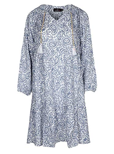 Zwillingsherz Sommerkleid im Paisley Design – Hochwertiges Abendkleid für Damen Frauen Mädchen - Freizeitkleid Cocktailkleid Strandkleid - Locker luftig – Perfekt für Frühling Sommer Herbst - Jeans