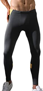 EUFANCE Men's Base Layer Compression Running Sports Gym Tights Pants Cool Dry Leggings