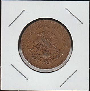 1943 Mexico National Arms, Eagle Left Twenty Cent Piece Choice About Uncirculated