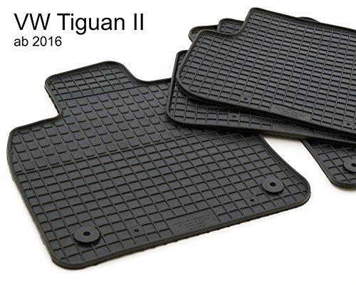 kh Teile Gummimatten passend für Tiguan II Gummi Fußmatten 4-teilig schwarz