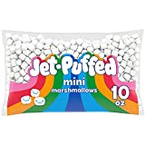 Jet-Puffed Miniature Marshmallows are a delicious and versatile dessert topping Bite sized mini marshmallows deliver the sweet taste and fluffy texture you know and love Fat free and guilt free treat Use miniature marshmallows to make a classic rice ...