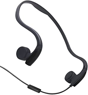 GZCRDZ Bone Conduction Headphones with Microphone Stereo Open-Ear Sport Headphone with Noise Reduction Microphone (Black)