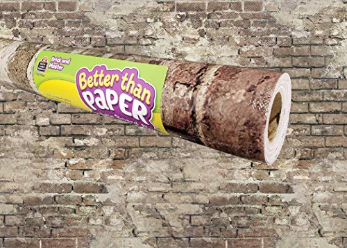 Brick and Plaster Better Than Paper Bulletin Board Roll
