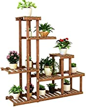 ZXHDND Flower Stand Flower Stand Wooden Plant Stand Multilayer Plant Pot Display Rack Garden Terrace Corner Stand Durable ...