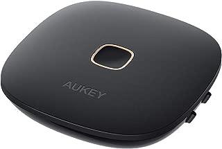 AUKEY Bluetoothトランスミッター レシーバー 1台2役 Bluetooth5.0 受信機&送信機 APT-X LL低遅延 APT-X AAC対応 Android/iPhone 高音質 2台同時接続 13時間連続使用 充電しながら使用可 多種類接続可能 3.5mmステレオミニプラグ 光デジタル端子 コンパクト BT-C6
