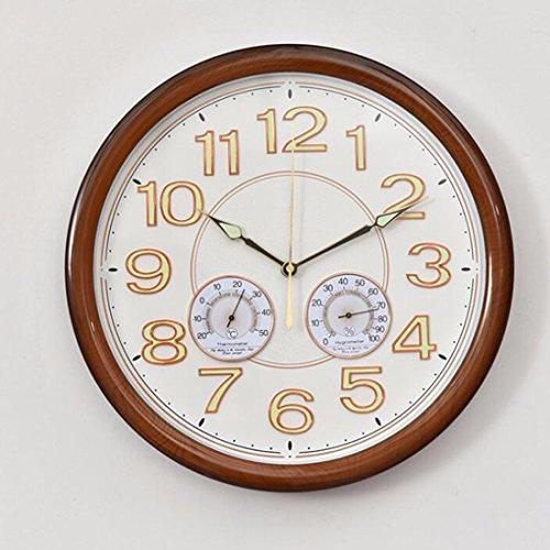 Wanduhr Kreative Büro Im Schlafzimmer Wohnzimmer Wanduhr Uhr Einfach Moderne Temperatur Stumm Leuchtenden Uhr