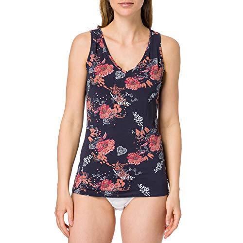 Schiesser Damen Trägertop Unterhemd Tanktop, Mehrfarbig, 46