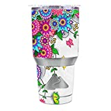 Skin Decal Vinyl Wrap for Ozark Trail 30 oz Tumbler Cup (6-piece kit) / Flowers Colorful Design