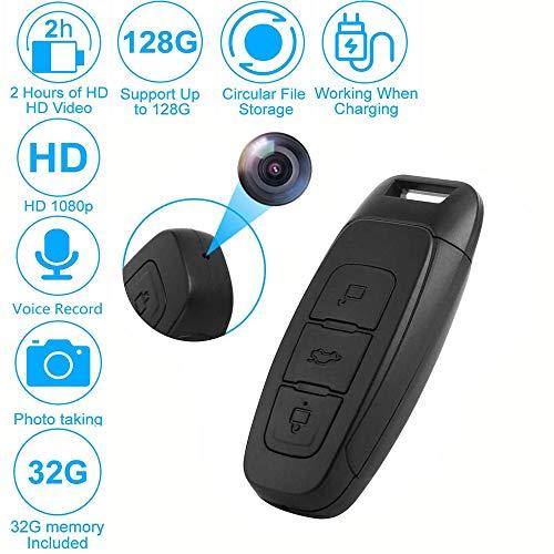 Versteckte Kameras, 1080P HD Mini Spion Lochkamera Überwachungskamera mit 32G TF-Karte, Unterstützt bis zu 128G hohe Kapazität/Loop-Aufnahme/Aufnahme während des Ladevorgangs