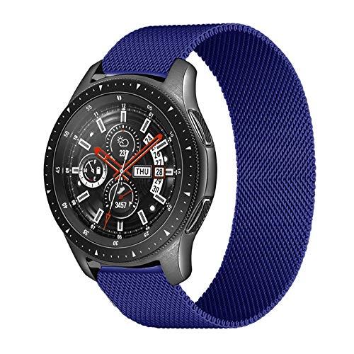FAAGFC Correa de 20 mm 22 mm para Samsung Galaxy Watch 46 mm 42 mm Gear S3 Frontier Watch 3 45 mm 41 mm Active 2 para Huawei Gt 2 Amazfit Bip Band (color de la correa: azul, ancho de la correa: 22 mm)