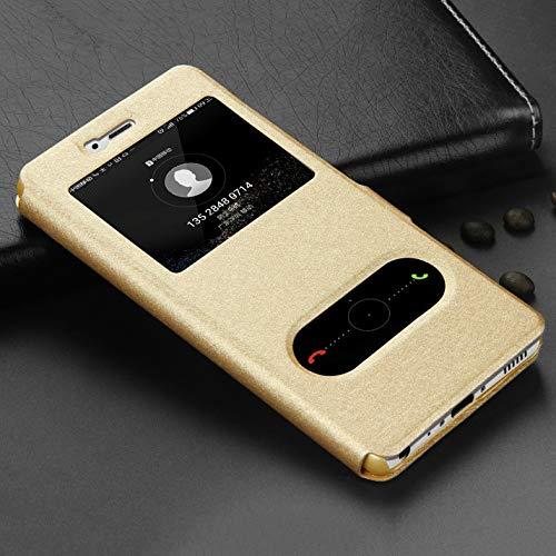 QiuKui For Xiaomi redmi 5 Plus 5A 4A 4X S2, la Marca de Lujo Ventana de visualización de Cuero del Caso tirón de la Carpeta Funda for el redmi Nota 4 4X 5 5A Pro