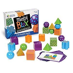 Learning Resources Mental Blox Critical Thinking Game, Homeschool, 20 Blocks, 20 Activity Cards, Ages 5+ from Learning Resources