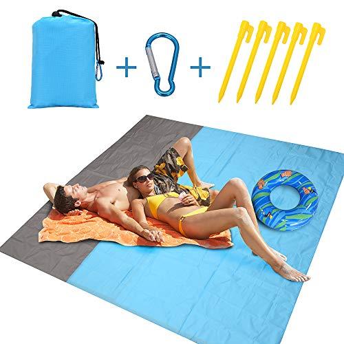 Alfombras de Playa Anti-Arena | Manta Picnic Impermeable 210 * 200cm | Manta de Playa Estera de Playa Plegable para la Playa, Picnic, Acampa y Otra Actividad al Aire Libre