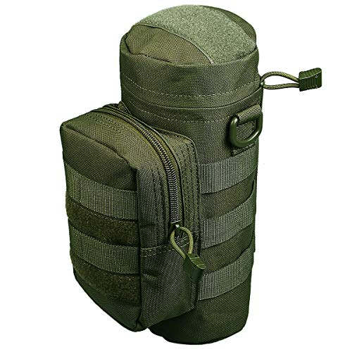 Xidan 1000D Nylon Bottiglia Borraccia d'acqua Impermeabile Multiuso Sacchetto con Custodia Militare Borsa Tattica Molle con Bollitore Outdoor Cintura Sacchetto Marsupio