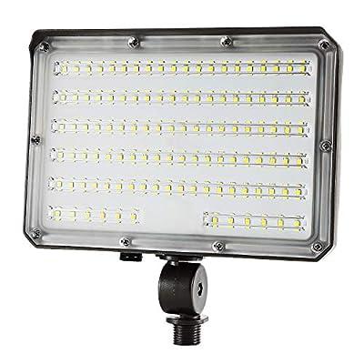 Knuckle Mount LED Flood Light - LED Lights 70W 9800Lm Dusk to Dawn Outdoor LED Flood Lights 5000K 300W MH Equal Outdoor Lighting for Doorways, Pathways, Yard, Landscape, Garden ETL Listed