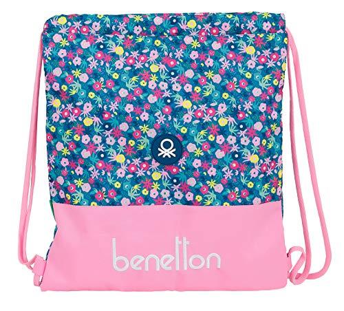 Safta Saco Plano Grande de Benetton Blooming, 350x400m, rosa/multicolor