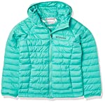 Columbia Youth Girls Powder Lite Hooded Jacket, Dolphin, Large