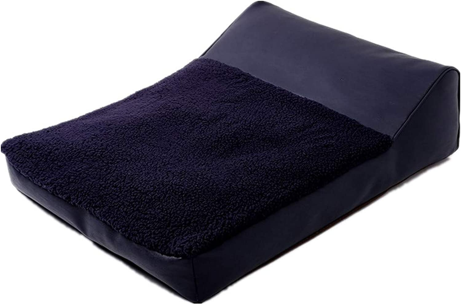 Mzdpp Soft And Comfortable Dog Bed Pet Warm Kennel Cat Litter Black Washable 80X60X10Cm 80X60X10Cm