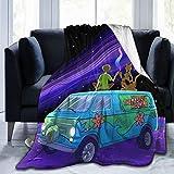 MFET Scooby-Doo Throw Blanket Cartoon Cozy Soft Fleece Blanket for Sofa Bed...