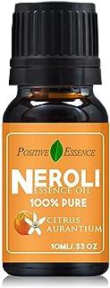 Neroli Essence Oil, Citrus Aurantium Essence Oil, Relaxing Scent, 100% Natural Neroli Essential Oil, 10ml .33 oz, Unique A...