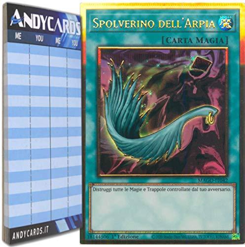 Andycards Yu-Gi-Oh! - SPOLVERINO DELL'ARPIA - Rara Oro Premium MAGO-IT042 in ITALIANO + Segnapunti