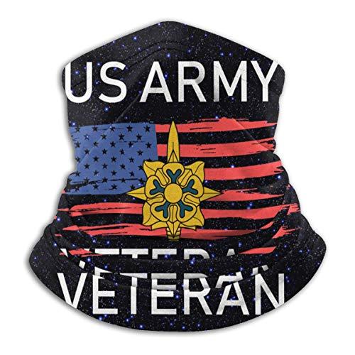 Stars Sky Night US Army Intelligence Veteran Gaiter Neck Gaiter Tube Mask Headwear Bandana Face Mask for Men Women Black